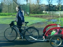 me on biketrailer